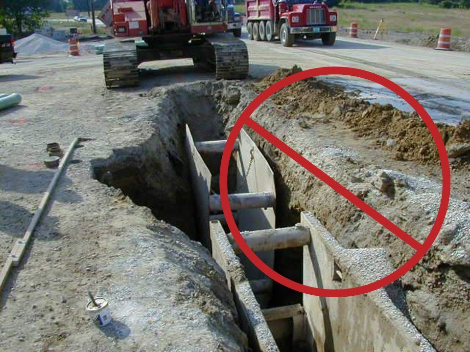 Cajas y Sistemas de Protecciones para Zanjas Diseñadas para suelos Tipo C Pueden usarse en todas las clases de suelo Las protecciones pueden moverse horizontalmente con los trabajadores en su interior Los trabajadores deben permanecer dentro de las protecciones