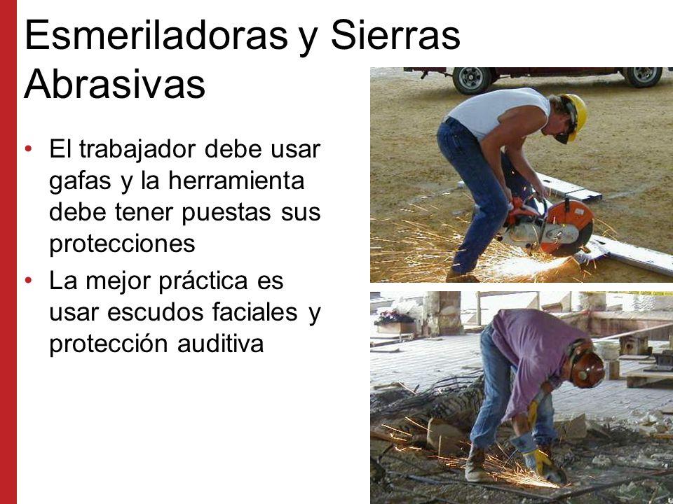 Sierras de Inglete Las protecciones deben cubrir la hoja de la sierra y sólo retraerse cuando la hoja corte el material.