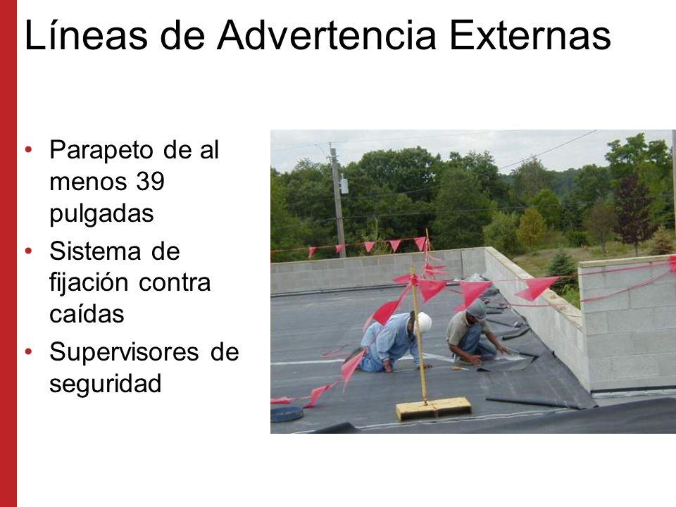Métodos de Protección contra Caídas en Techos Supervisores de seguridad Barandas y líneas de advertencia Sistema de detención de caídas