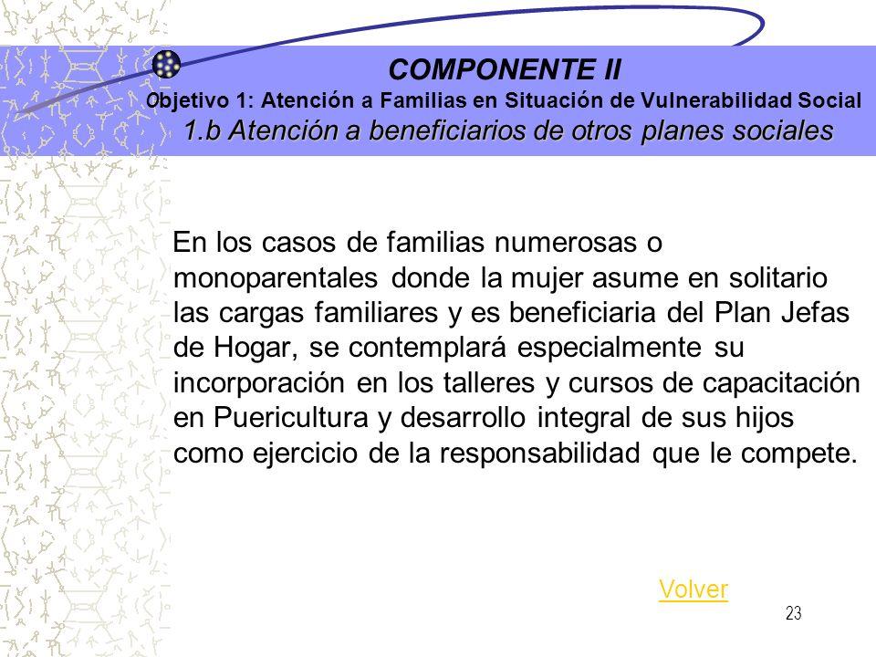 22 2.a Derecho a Tener Derechos COMPONENTE I O bjetivo 2: Protección Jurídica de la Familia 2.a Derecho a Tener Derechos Promoción y protección de der