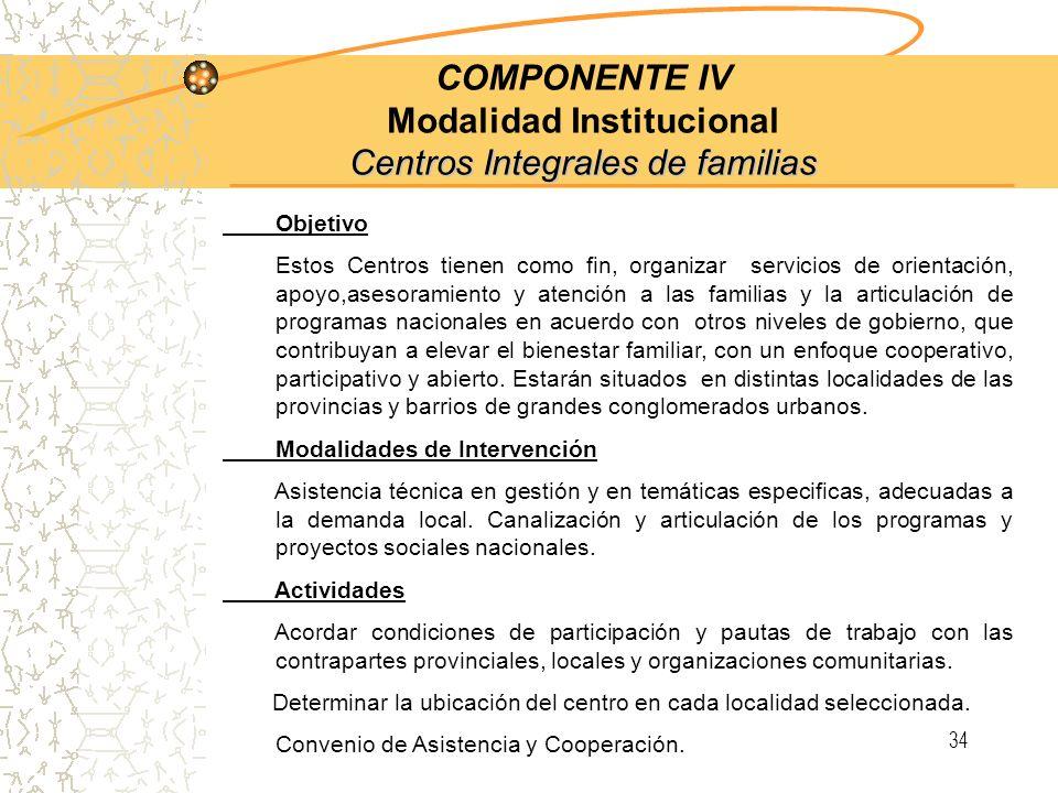 33 2.c Consejo Federal de Adultos Mayores COMPONENTE III O bjetivo 2: Coordinación Cooperativa entre los distintos niveles de gobierno 2.c Consejo Fed