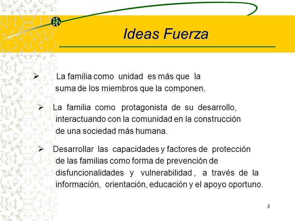 3 Fundamento La política social familiar consiste en la promoción del Bienestar Familiar, desde esta perspectiva entendemos que el papel del Estado es