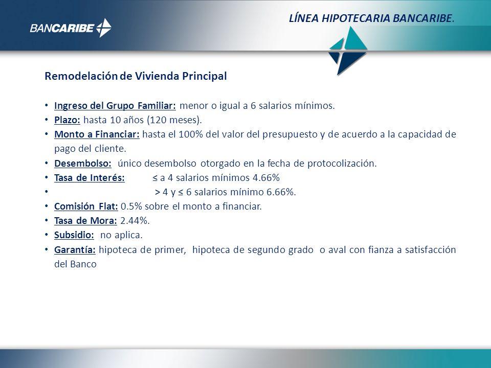 Monto máximo de Crédito: Evaluación por capacidad de pago y de acuerdo al destino del crédito.