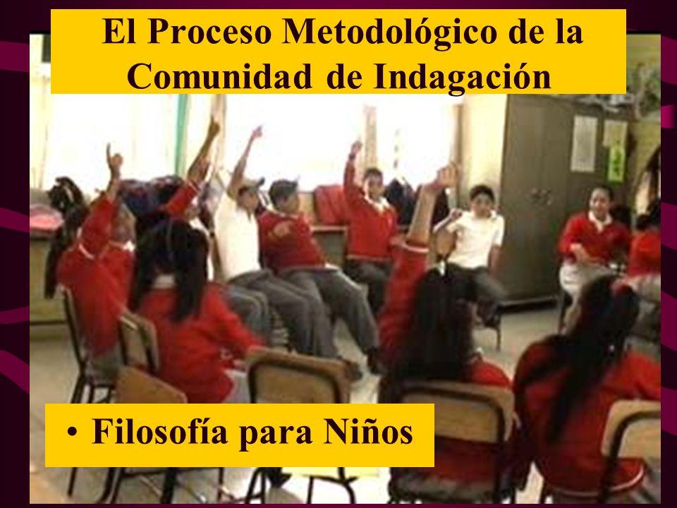 El Proceso Metodológico de la Comunidad de Indagación Filosofía para Niños