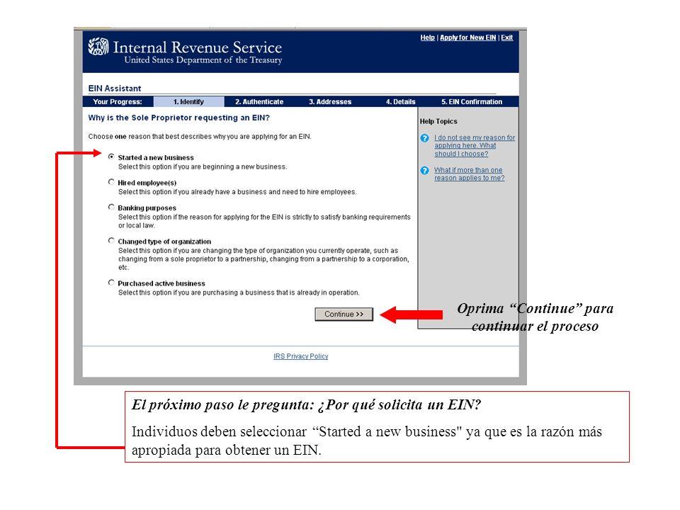 Información de ayuda referente a su EIN http://www.irs.gov/businesses/small/article/0,,id=98350,00.html