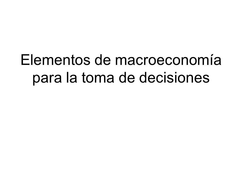 Elementos de macroeconomía para la toma de decisiones