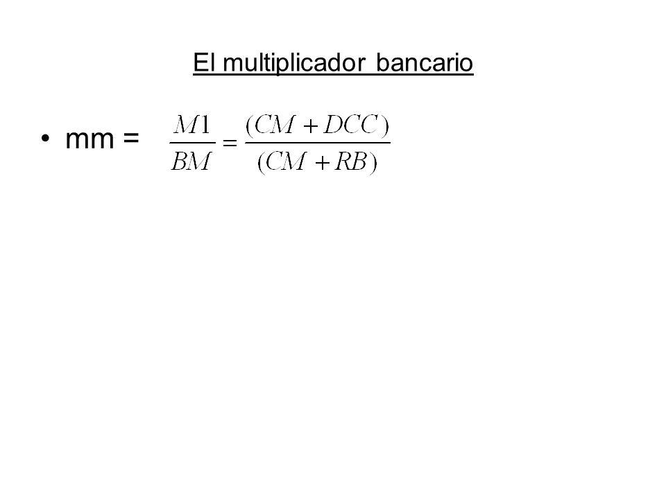 El multiplicador bancario mm =