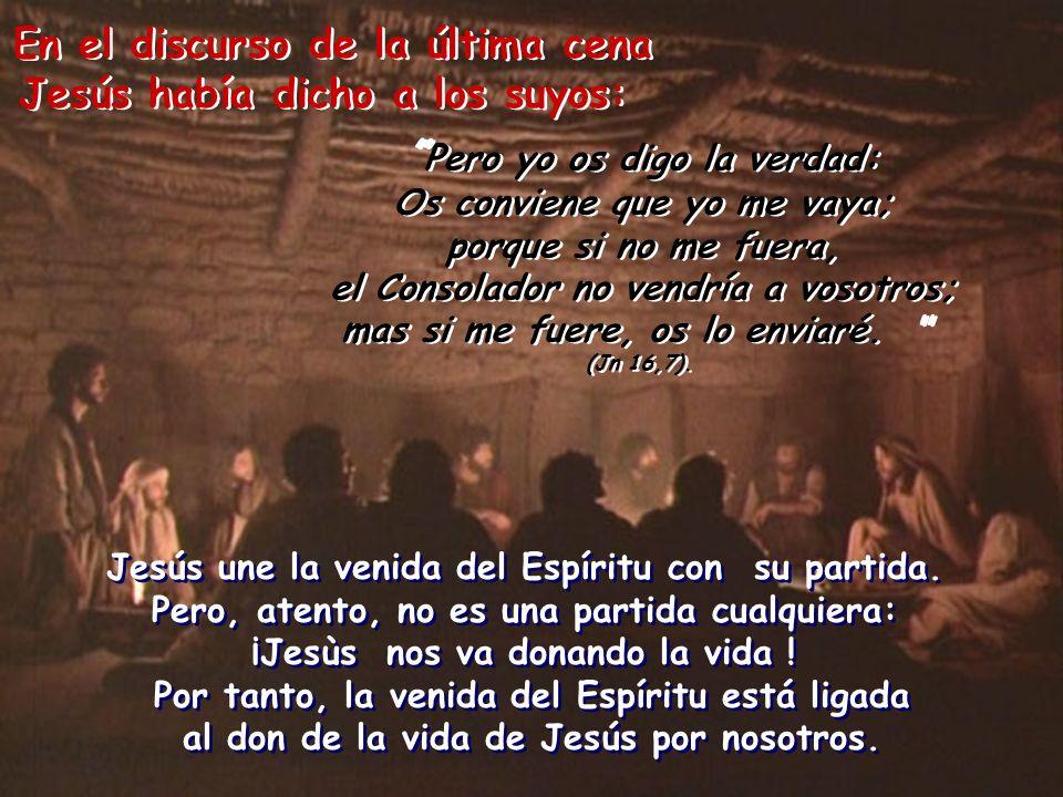 En el discurso de la última cena Jesús había dicho a los suyos: En el discurso de la última cena Jesús había dicho a los suyos: Pero yo os digo la ver