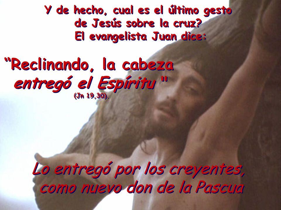 Y de hecho, cual es el último gesto de Jesús sobre la cruz? El evangelista Juan dice: Y de hecho, cual es el último gesto de Jesús sobre la cruz? El e