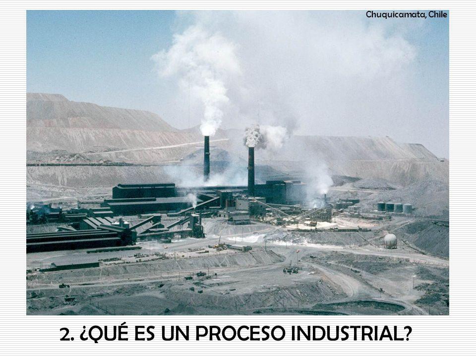 2. ¿QUÉ ES UN PROCESO INDUSTRIAL? Chuquicamata, Chile