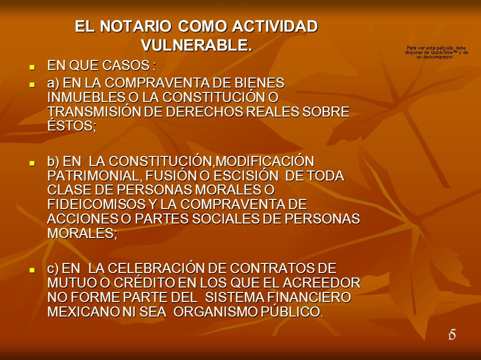 1 EL NOTARIO COMO ACTIVIDAD VULNERABLE.
