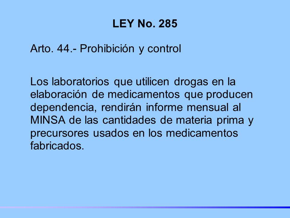 LEY No.285 Arto.
