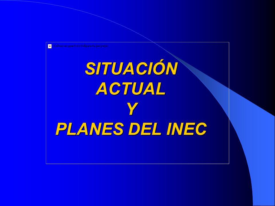 SITUACIÓN ACTUAL Y PLANES DEL INEC