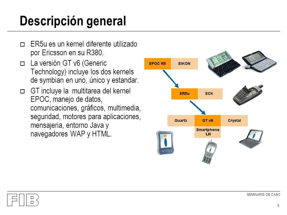 SEMINARIS DE CASO 6 Descripción general o Los principales requisitos de GT están basados en un uso eficiente de todos los recursos de la máquina: –Autonomia.