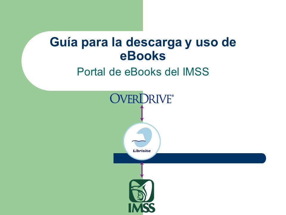 Guía para la descarga y uso de eBooks Portal de eBooks del IMSS
