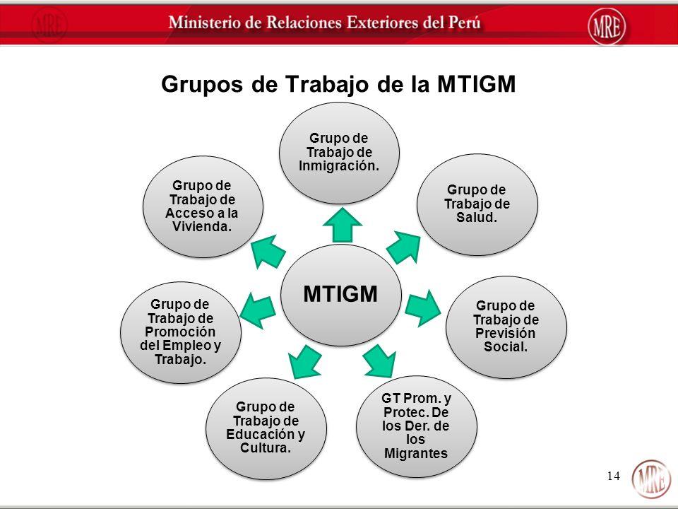 Grupo de Trabajo de Inmigración. Grupo de Trabajo de Salud. Grupo de Trabajo de Previsión Social. GT Prom. y Protec. De los Der. de los Migrantes Grup