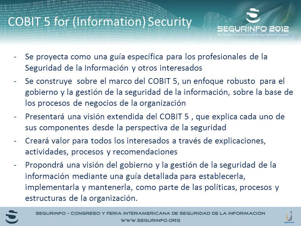 -Se proyecta como una guía específica para los profesionales de la Seguridad de la Información y otros interesados -Se construye sobre el marco del CO