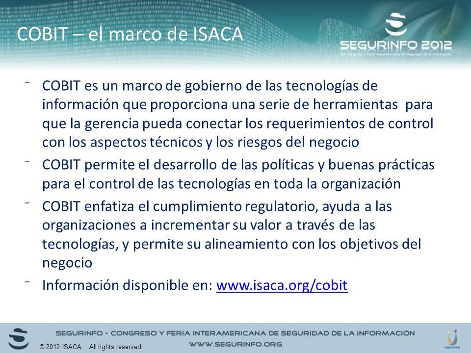 COBIT es un marco de gobierno de las tecnologías de información que proporciona una serie de herramientas para que la gerencia pueda conectar los requ