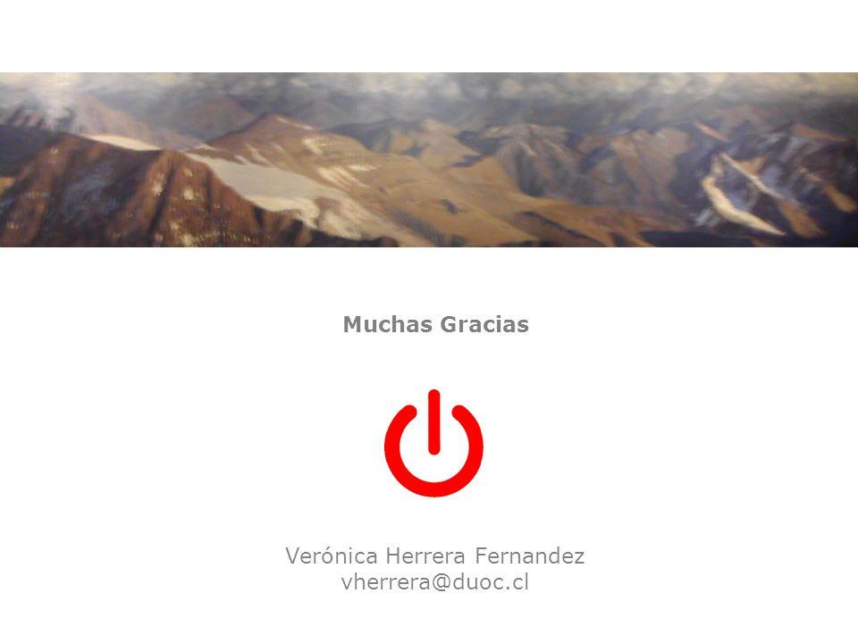 Muchas Gracias Verónica Herrera Fernandez vherrera@duoc.cl