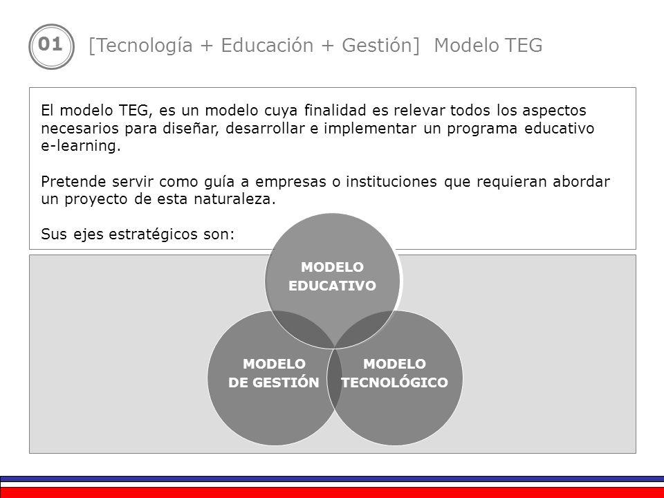 01 El modelo TEG, es un modelo cuya finalidad es relevar todos los aspectos necesarios para diseñar, desarrollar e implementar un programa educativo e