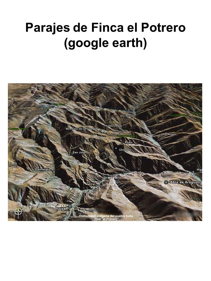 Parajes de Finca el Potrero (google earth)