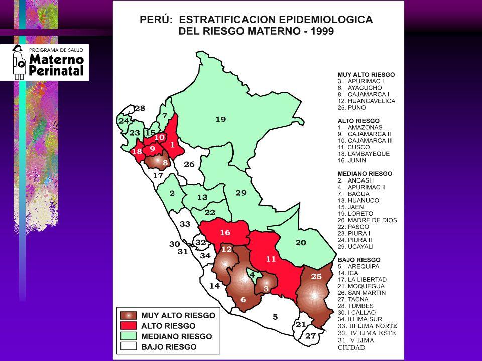 Resultado de las Intervenciones Realizadas para Reducir la Mortalidad Materna en el Perú ESTRATEGIAS 1.Mejoramiento de la calidad de atención de los servicios de salud materno - perinatales: Elevar la calidad del CPN en todos los niveles.