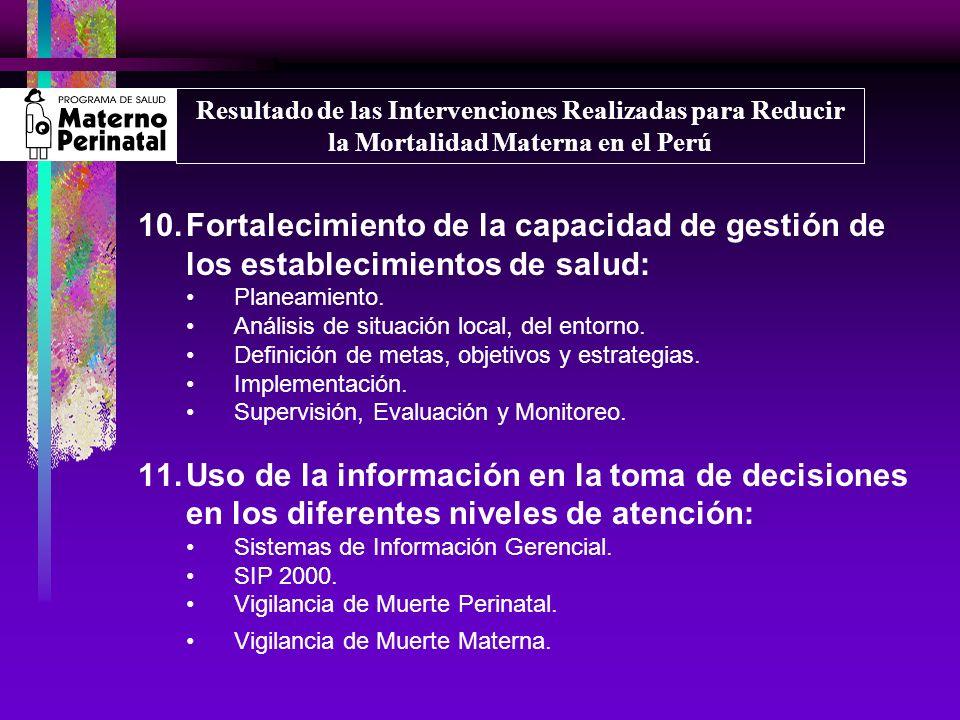 12.Coordinación interinstitucional, intrainstitucional según niveles de atención.