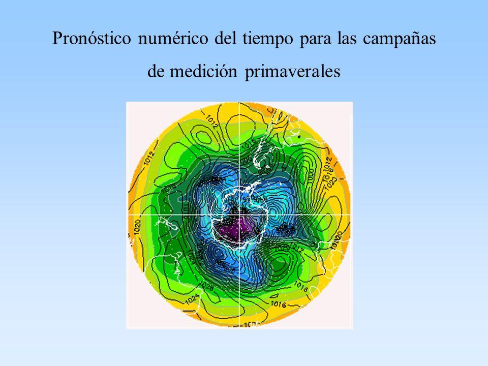 Pronóstico numérico del tiempo para las campañas de medición primaverales