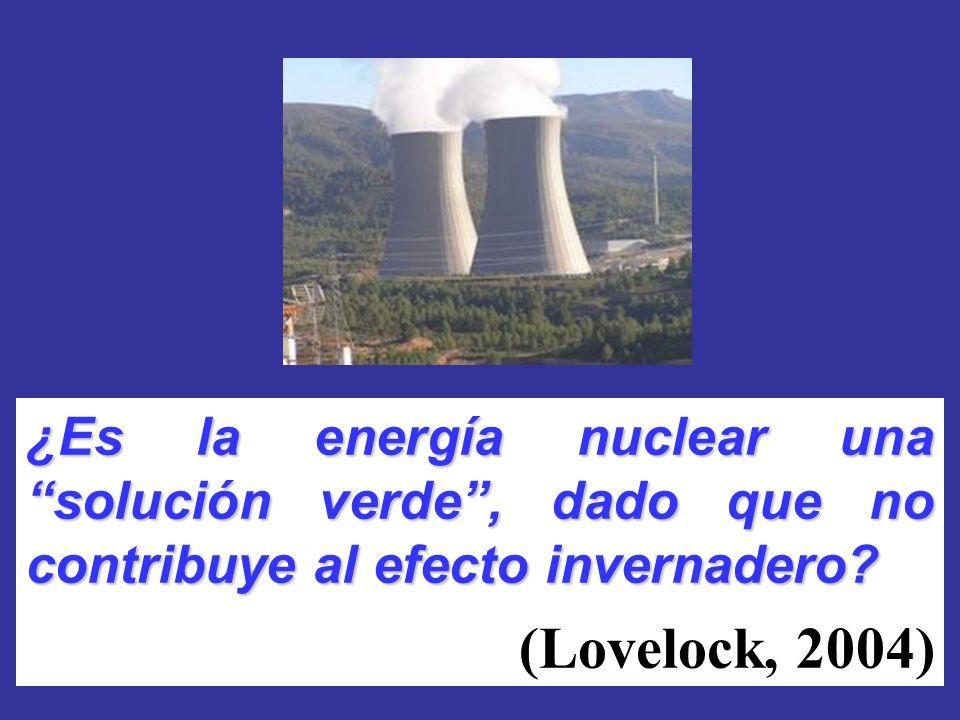 ¿Es la energía nuclear una solución verde, dado que no contribuye al efecto invernadero? (Lovelock, 2004)