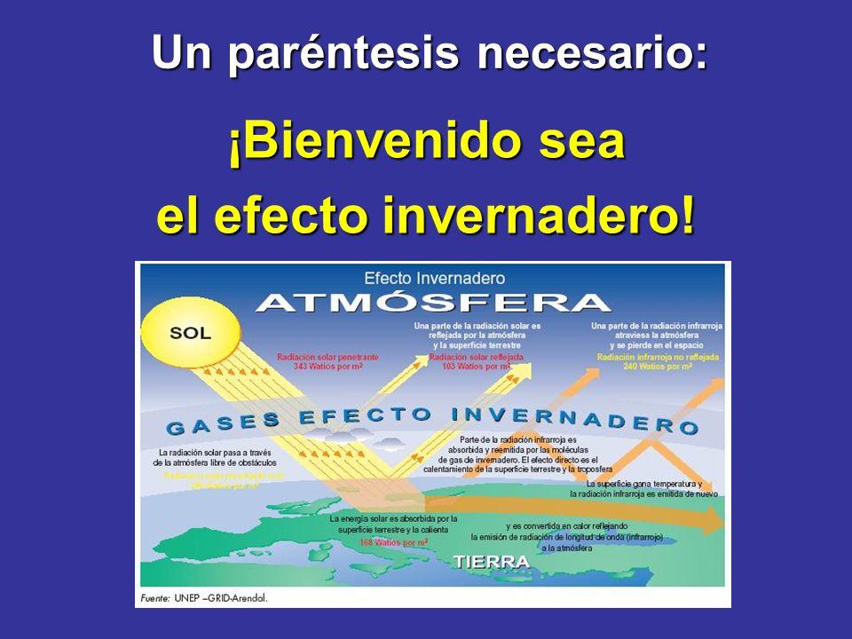 Un paréntesis necesario: ¡Bienvenido sea el efecto invernadero!