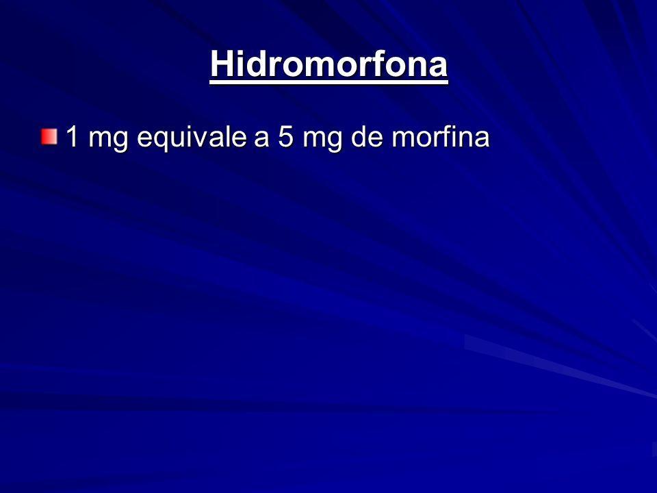 Hidromorfona 1 mg equivale a 5 mg de morfina