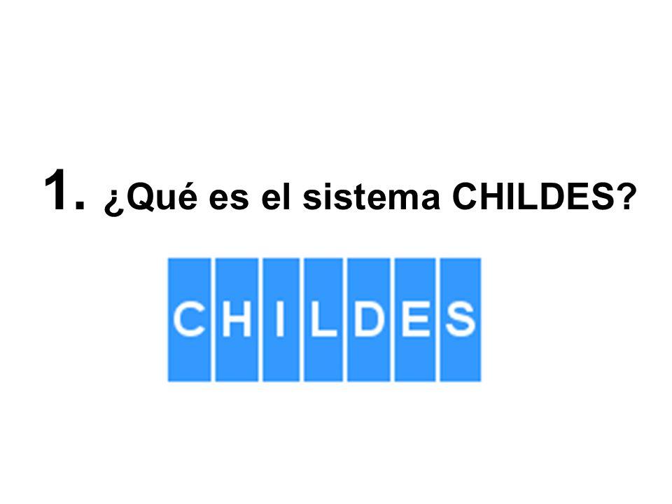 1. ¿Qué es el sistema CHILDES?
