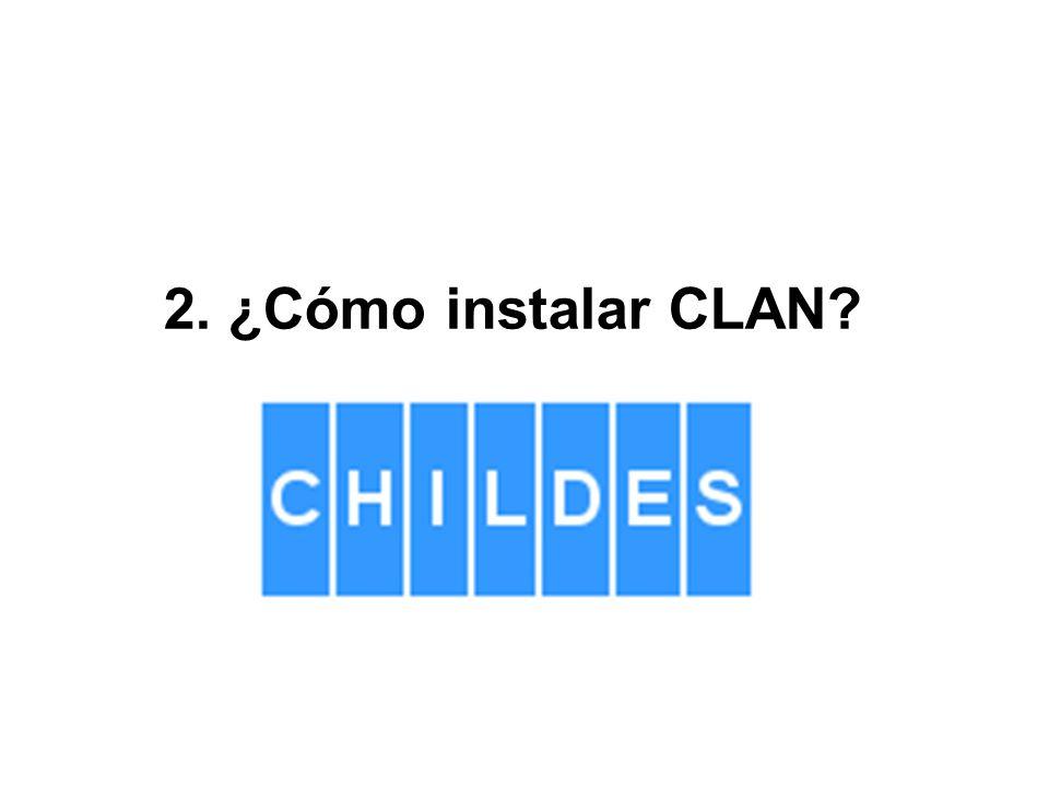 2. ¿Cómo instalar CLAN?