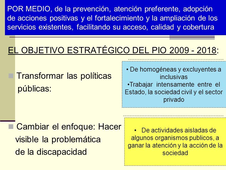 POR MEDIO, de la prevención, atención preferente, adopción de acciones positivas y el fortalecimiento y la ampliación de los servicios existentes, fac