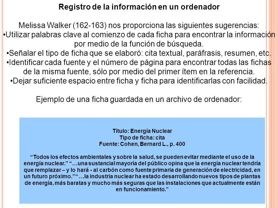 Título: Energía Nuclear Tipo de ficha: cita Fuente: Cohen, Bernard L., p. 400 Todos los efectos ambientales y sobre la salud, se pueden evitar mediant
