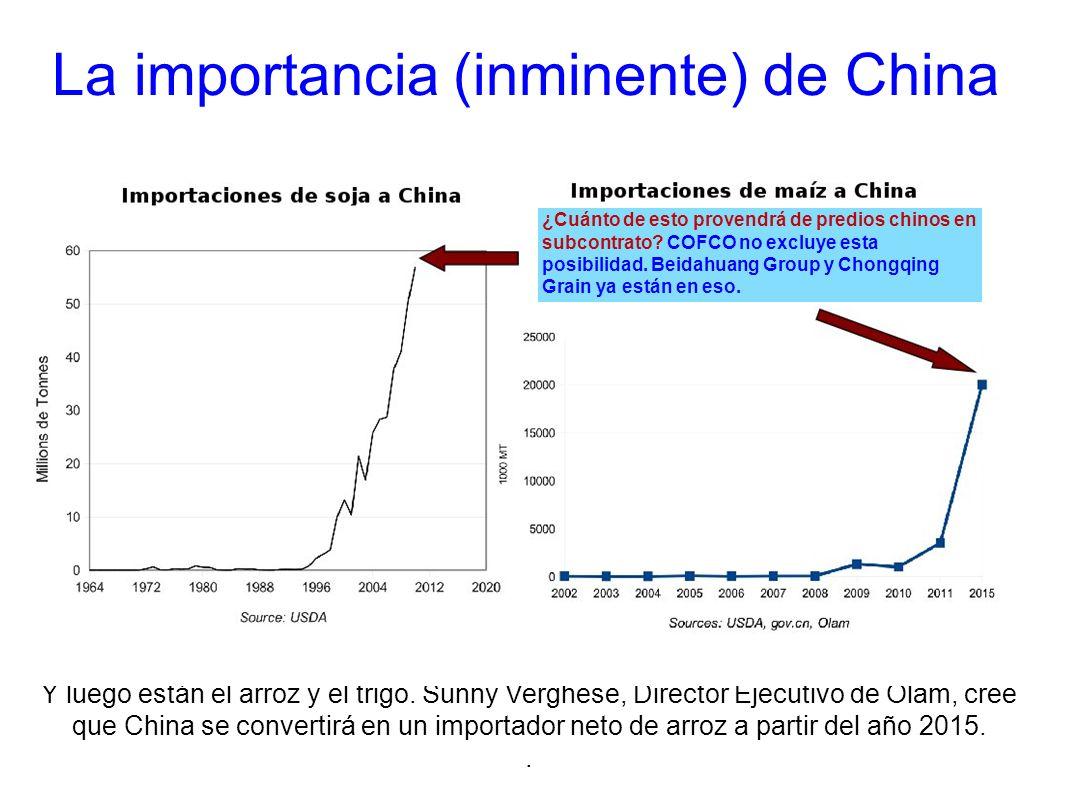 La importancia (inminente) de China Y luego están el arroz y el trigo. Sunny Verghese, Director Ejecutivo de Olam, cree que China se convertirá en un