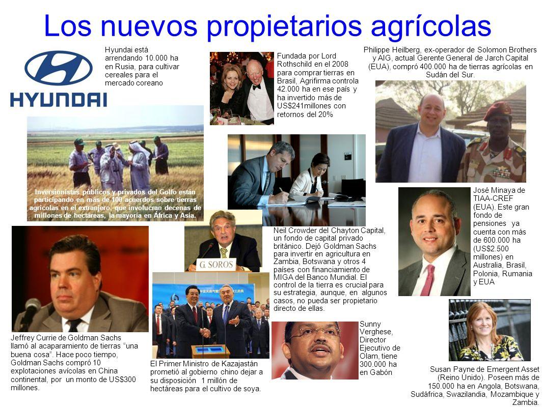 Los nuevos propietarios agrícolas Fundada por Lord Rothschild en el 2008 para comprar tierras en Brasil, Agrifirma controla 42.000 ha en ese país y ha