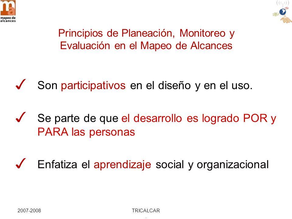 2007-2008TRICALCAR. Son participativos en el diseño y en el uso.
