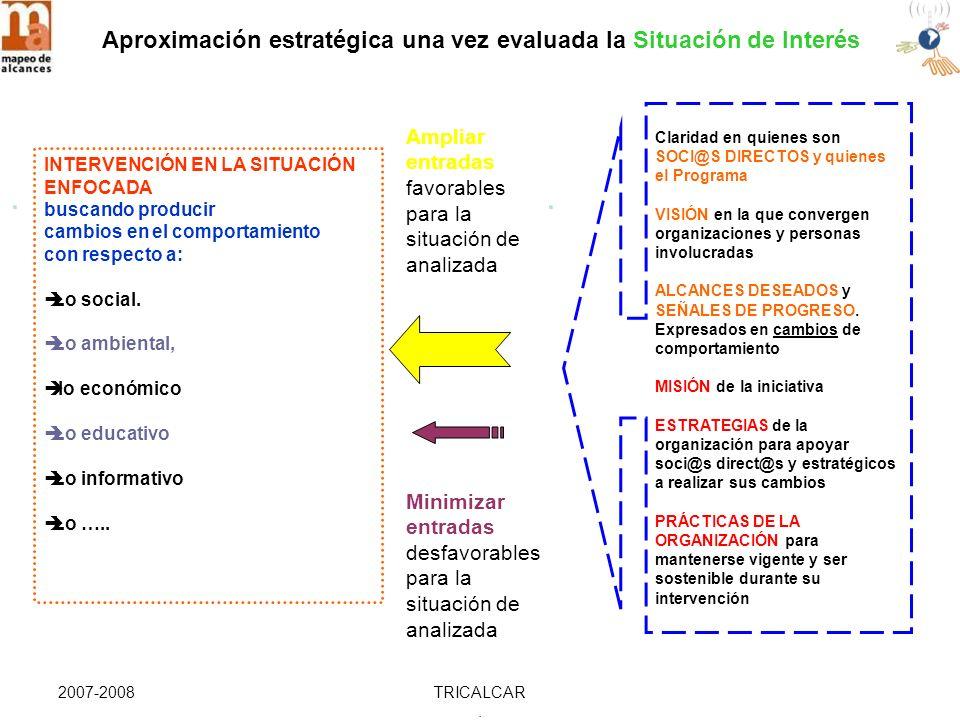 2007-2008TRICALCAR. Aproximación estratégica una vez evaluada la Situación de Interés..