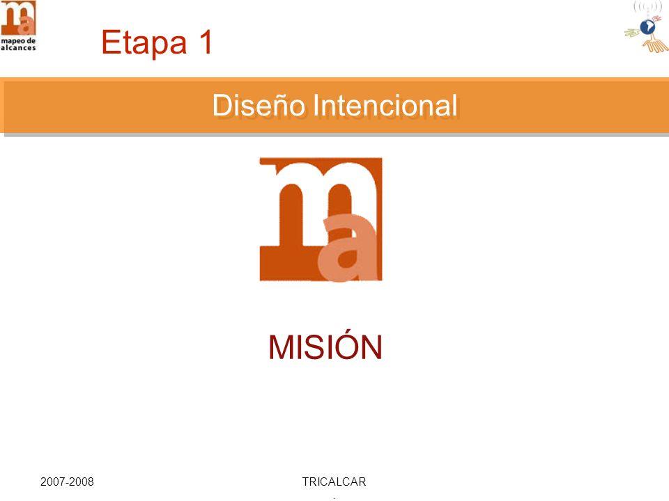 2007-2008TRICALCAR. DISEÑO INTENCIONAL MISIÓN Diseño Intencional Etapa 1