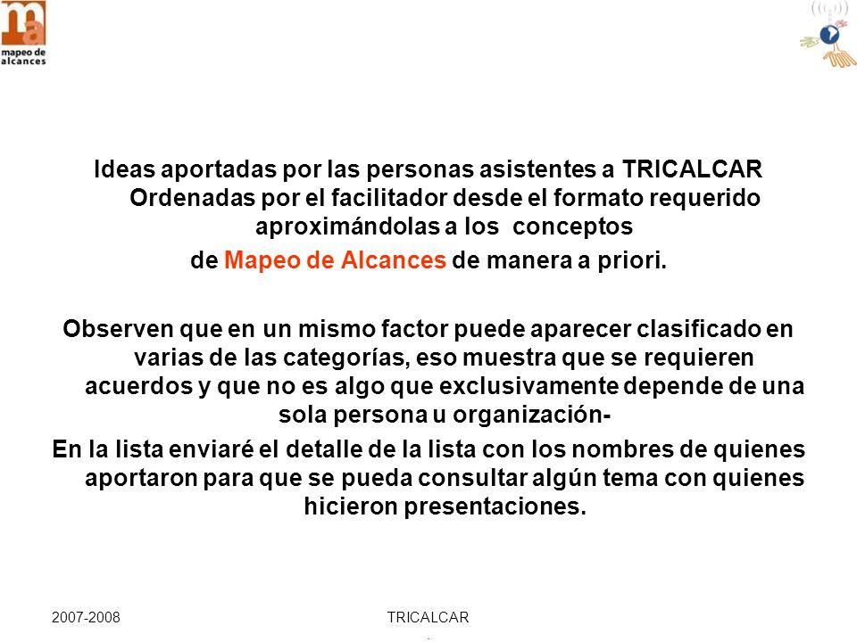 2007-2008TRICALCAR. DISEÑO INTENCIONAL (Paso 1): VISIÓN Diseño Intencional Etapa 1