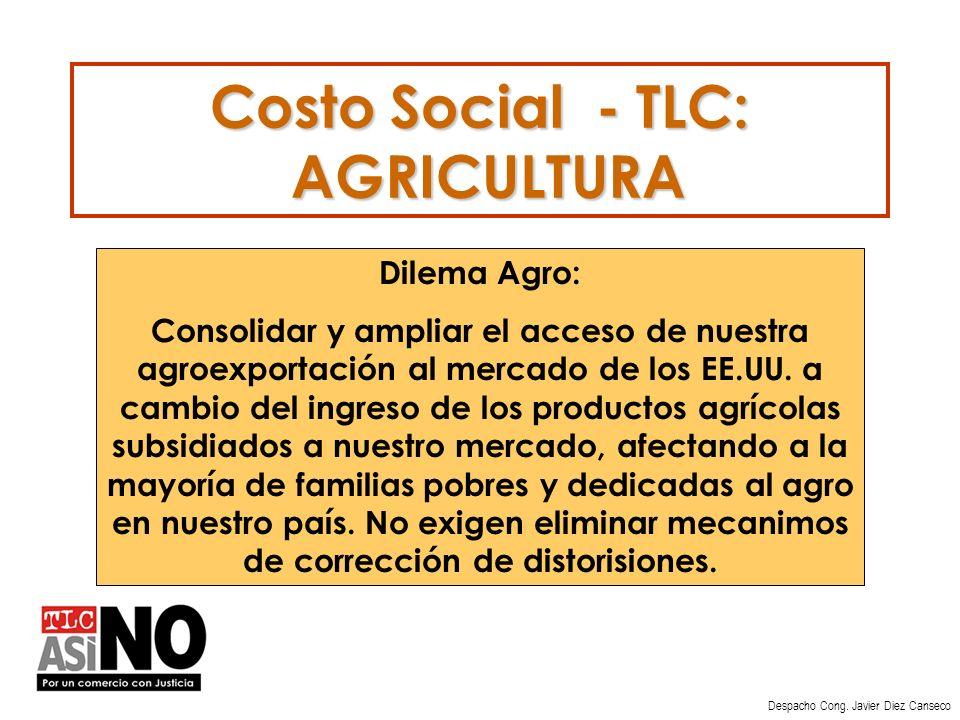 Costo Social - TLC: AGRICULTURA Despacho Cong.