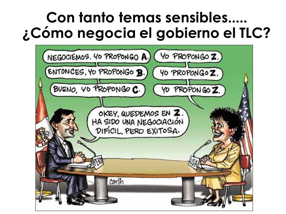 Con tanto temas sensibles..... ¿Cómo negocia el gobierno el TLC?