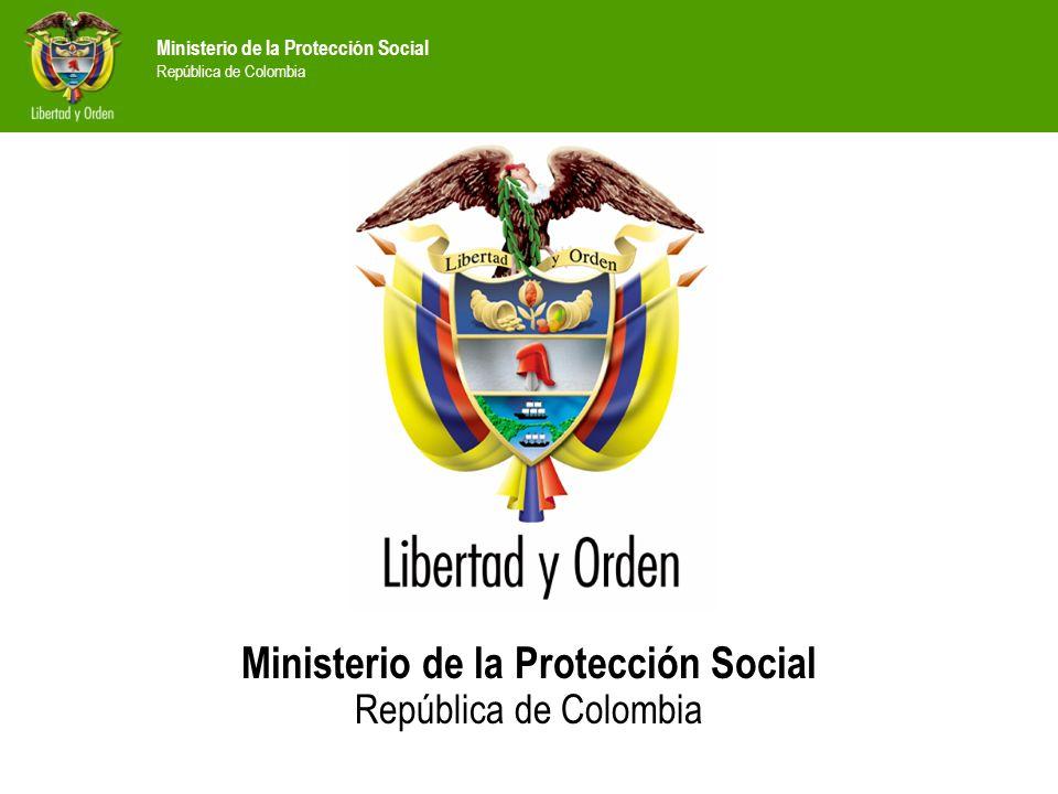 Ministerio de la Protección Social República de Colombia Intercambios entre los países Andinos para transferencia de conocimientos y metodologías Fortalecimiento de la plataforma virtual al servicio de las entidades descentralizadas en materia de drogas.