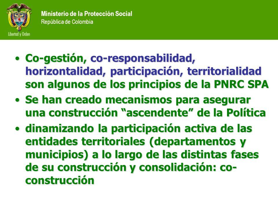 Co-gestión, co-responsabilidad, horizontalidad, participación, territorialidad son algunos de los principios de la PNRC SPACo-gestión, co-responsabili