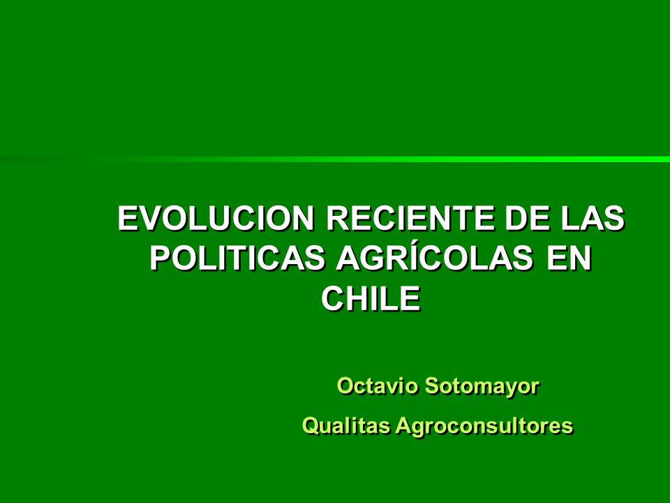 EVOLUCION RECIENTE DE LAS POLITICAS AGRÍCOLAS EN CHILE Octavio Sotomayor Qualitas Agroconsultores EVOLUCION RECIENTE DE LAS POLITICAS AGRÍCOLAS EN CHI