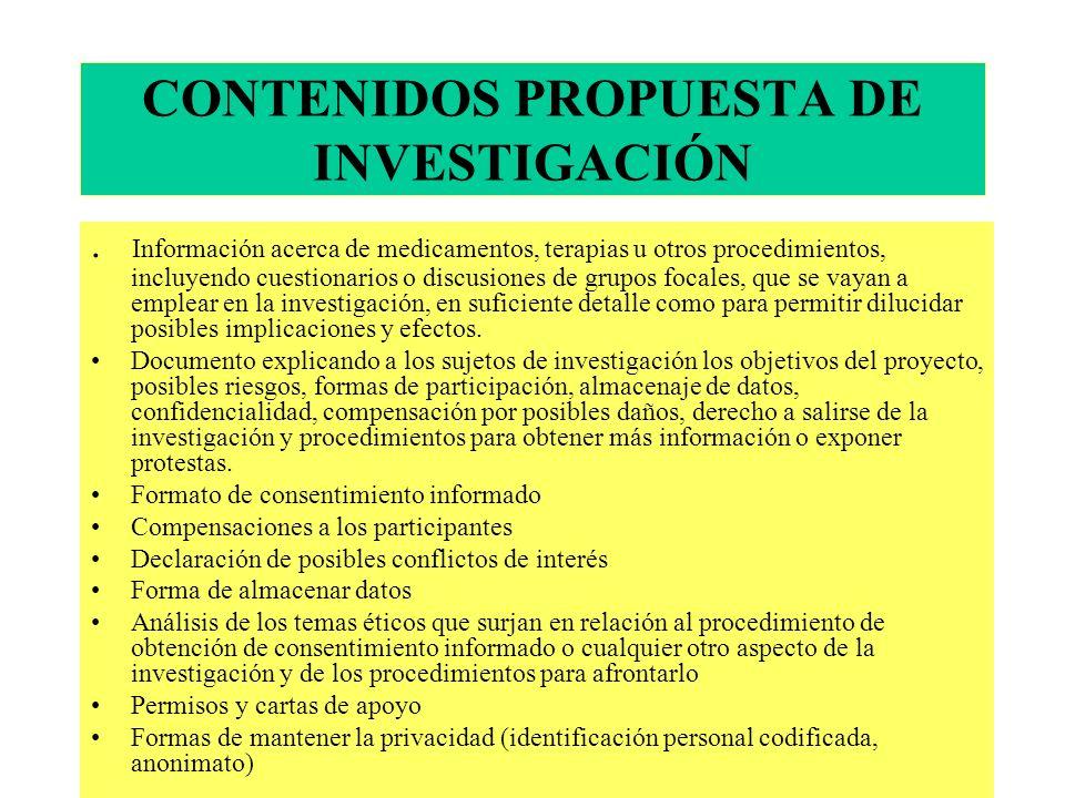 CONTENIDOS PROPUESTA DE INVESTIGACIÓN.