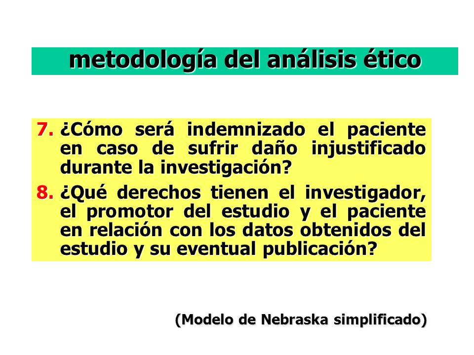 7.¿Cómo será indemnizado el paciente en caso de sufrir daño injustificado durante la investigación.