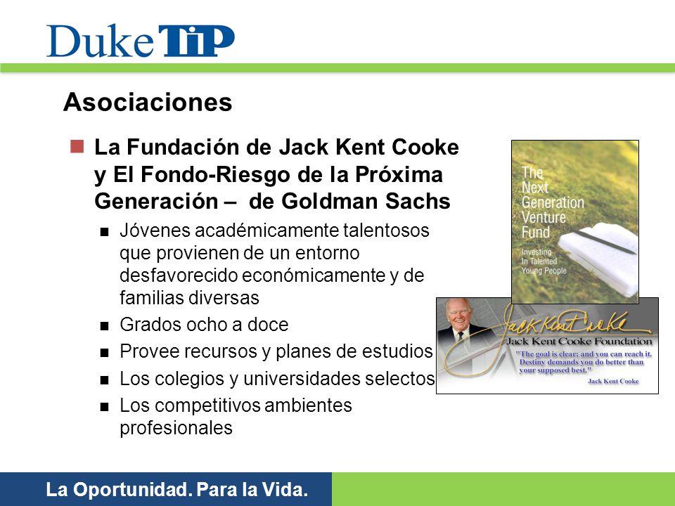 La Oportunidad. Para la Vida. La Fundación de Jack Kent Cooke y El Fondo-Riesgo de la Próxima Generación – de Goldman Sachs Jóvenes académicamente tal