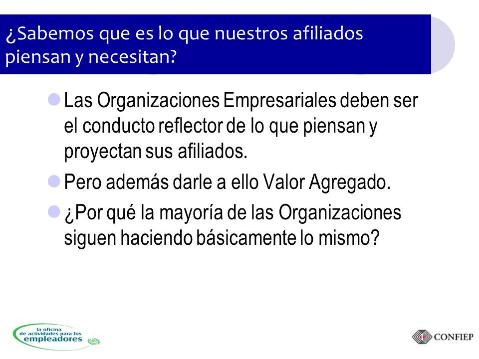 Las Organizaciones Empresariales deben ser el conducto reflector de lo que piensan y proyectan sus afiliados.